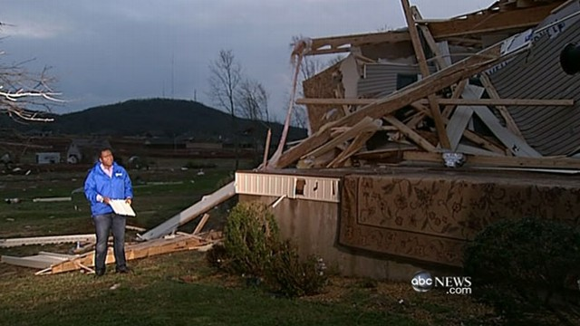 VIDEO: Twisters destroy James and Judy Hodges house twice in one year.