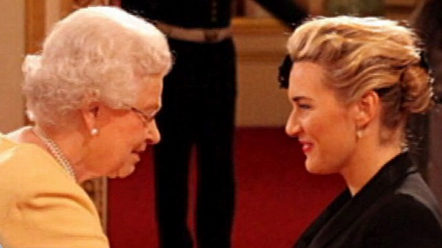Actress Kate Winslet Meets The Queen