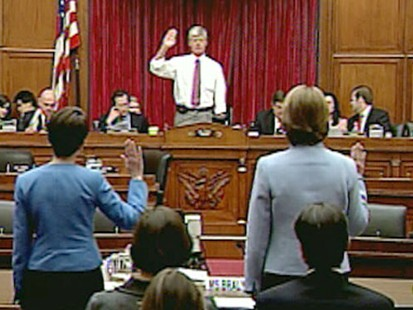 VIDEO: Health Insurance Executives are forced to answer to Congress about rate hikes.