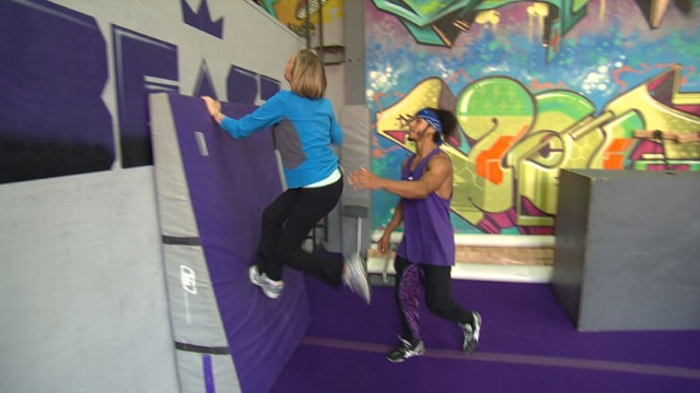 VIDEO:Latest workout craze has you bouncing off the walls like a Hollywood daredevil.
