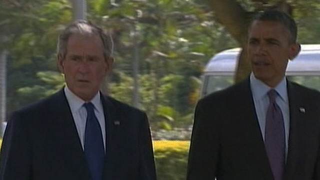 VIDEO: Presidents attend memorial service for victims of 1998 Al Qaeda attacks at US Embassy in Tanzania.