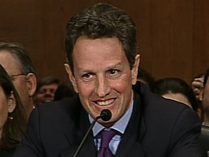 VIDEO: Geithner faces opposition