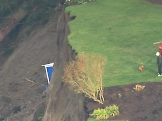 Watch: Washington Homes on Edge After Massive Landslide
