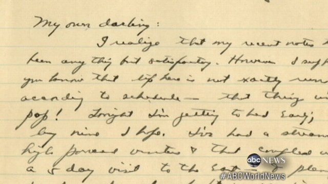 VIDEO: Letters owned, written by famous actors and leaders up for grabs at historic auction.