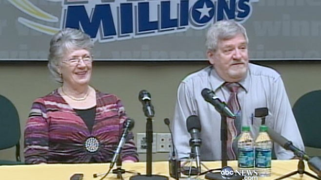 VIDEO: The lump sum after taxes will come to $90 million for the two winners.