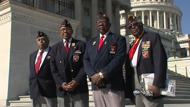 VIDEO: Montford Marines, who served in WWII, receive Congressional Gold Medals.