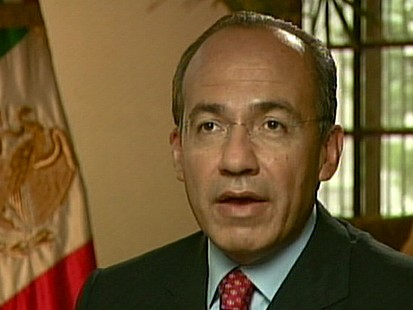 VIDEO: Calderon: Border Fence is Unfriendly