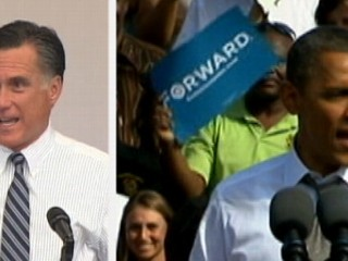 Watch: Mitt Romney, Barack Obama Hit Background States Following Debate