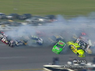 Watch: NASCAR Pileup: Lesson for Surviving Car Crashes?
