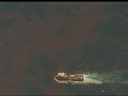 VIDEO: Leak from oil rig blast in Gulf coast is spilling over 200,000 gallons a day.