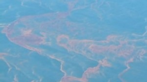 VIDEO: Natural Gas Leaks from Oil Spill Site