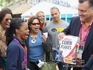 Watch: Gabby Douglas on Corn Flakes Box