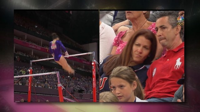 VIDEO: Parents, like Aly Raisman's mother, as nervous as the Olympians themselves.