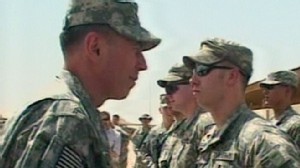 VIDEO: Petraeus takes command in the deadliest month of the Afghan war.