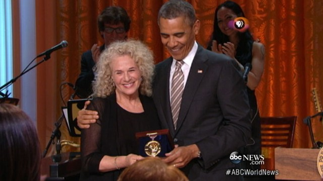 Video: Person of the Week: Folk Crooner Carole King Honored by Obama