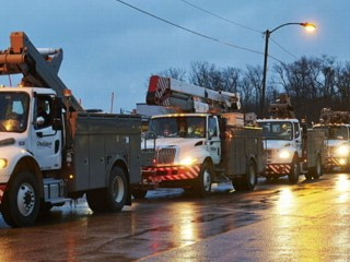 Watch: Hurricane Sandy Downs Power Lines in Delaware