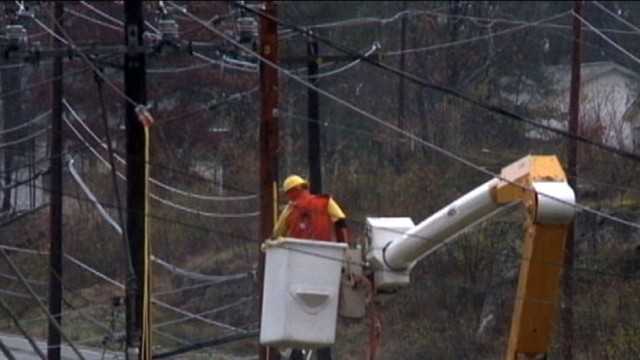 VIDEO: Utility crews from several states scramble to restore electricity for millions of customers.
