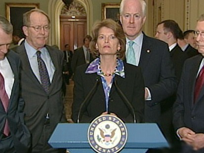 VIDEO: Sen. Murkowski is fighting to hold on against tea party candidate Joe Miller.