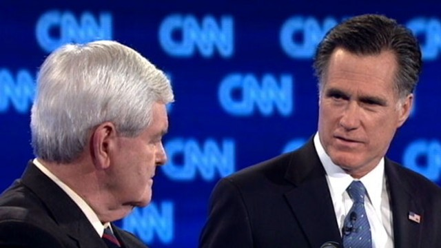 VIDEO: Newt Gingrich and Mitt Romney battle to win the Sunshine State primary.