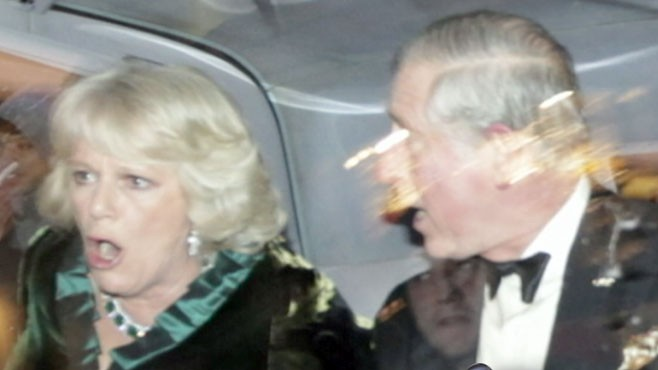 VIDEO: Prince Charles and Wife Camilla Attacked in London