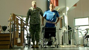 VIDEO: After being injured in Iraq bombing, soldier Tim Karcher refuses to give up.