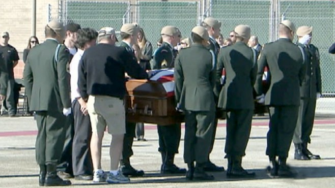 VIDEO: The body of 29-year-old Sgt. 1st Class Lance Vogeler comes home.