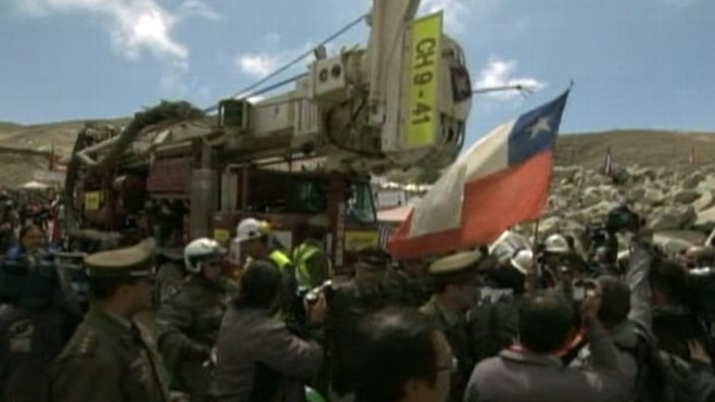 VIDEO: Trapped Chilean Miners a Day Away From Freedom