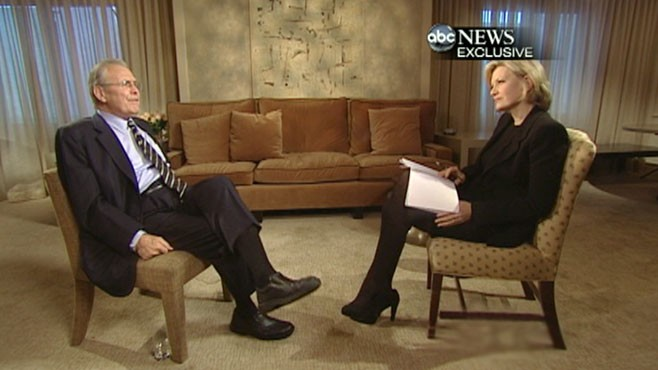 VIDEO: Former defense chief talks to Diane Sawyer about the Iraq and Afghanistan wars.
