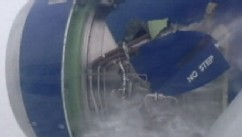 VIDEO: How the quick-thinking pilot thwarted a disaster when the plane engine caught fire.