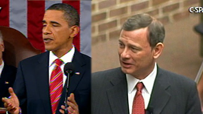 VIDEO: Chief Justice Roberts criticizes president's comments at the State of the Union.