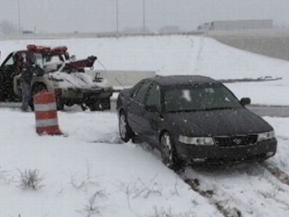 Watch: Spring Snowstorm Creates Unexpected Road Conditions