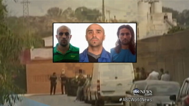 VIDEO: Police believe the three men were planning terror attack using paragliders.