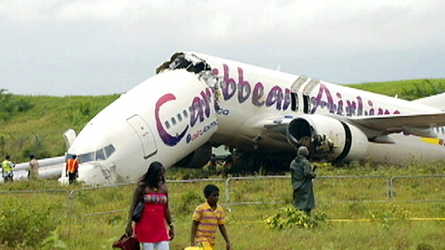 Caribbean Airlines Plane Runs out of Runway