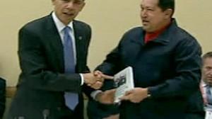 President Obama and Hugo Chavez