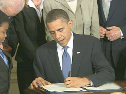 VIDEO: Jake Tapper was on hand when the president signed the historic bill.