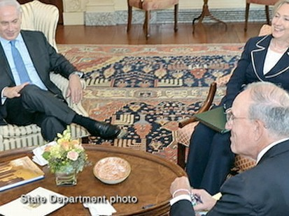 VIDEO: The secretary of state begins peace talks with Israeli and Palestinian leaders.