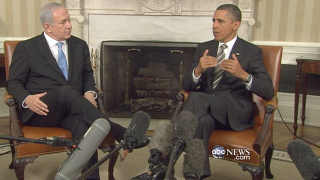 VIDEO: Israeli leader in Washington the day after Obama's harsh words on Middle East.
