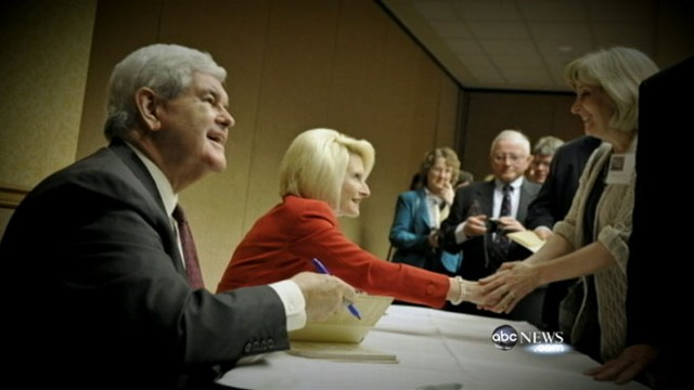 VIDEO: Republican presidential candidate and wife Callista address public's scrutiny.