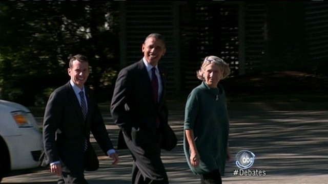 VIDEO: President faces off with Mitt Romney at Hofstra University in the second debate.