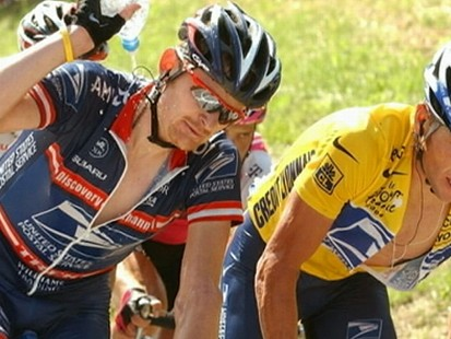 VIDEO: Lance Armstrong denies former teammate Floyd Landis accusations of PED use.