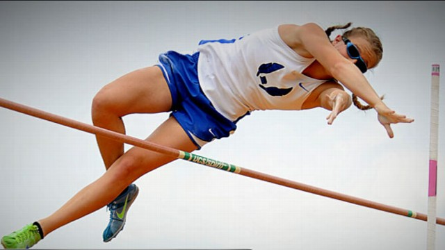 VIDEO: Charlotte Brown, 15, who started losing her sight at just 16 weeks, is top vaulter in Texas.