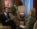 Obama and Barbara Walters