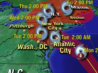 Watch: Hurricane Sandy: Warnings Issued in East Coast States