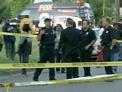 VIDEO: Police officers at a crime scene