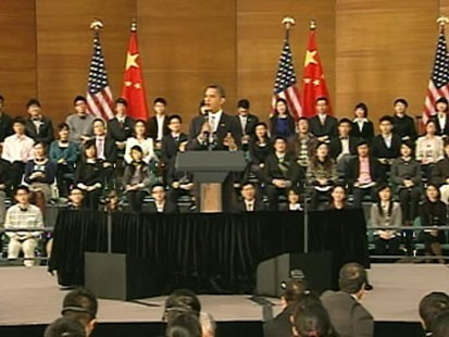VIDEO: No Mandarin Word for Town Hall: Obama Introduces China to U.S. Political Tradition