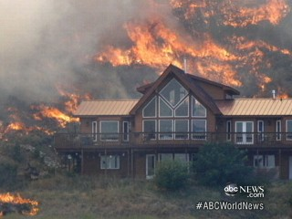 Watch: How House Survived Surrounding Wildfire