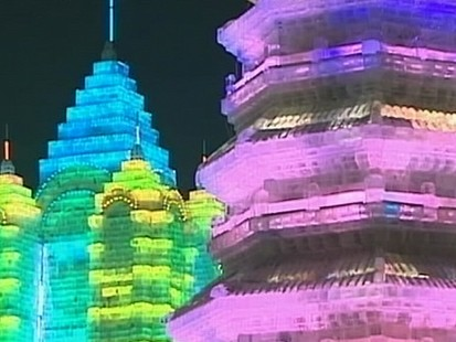 VIDEO: Every year the residents of Harbin build a magnificent city out of snow and ice.