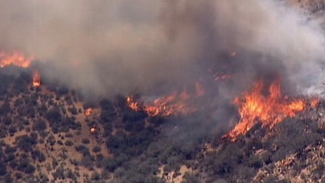VIDEO: Firefighters battle to save homes and neighborhoods in Southern California.