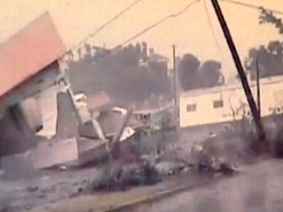 Watch: Tornado-Hit House Tipped Over by Gust of Wind