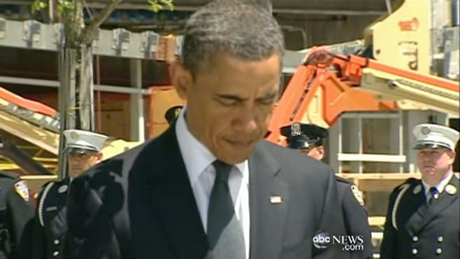 VIDEO: Obama's First Presidential Visit to Ground Zero